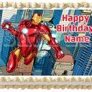"IRON MAN Edible cake topper image 1/4 sheet (10.5"" x 8"")"