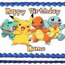 "POKEMON Pikachu and Friends Edible cake topper image 1/4 sheet (10.5"" x 8"")"