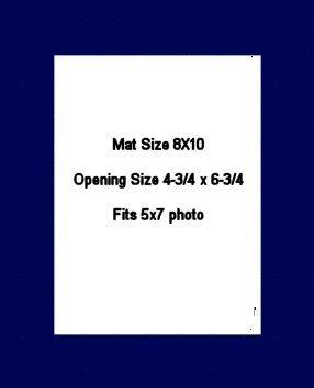 8X10 PHOTO MAT -  Military Blue