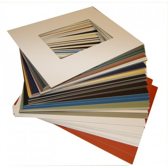 16 x 20 Photo Mat - Pkg of 25 Assorted Styles and Colors
