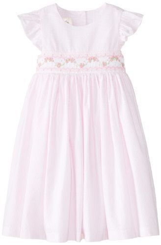 Laura Ashley Size6X White Dress with Smocking Pink Ribbon Special Occasion New
