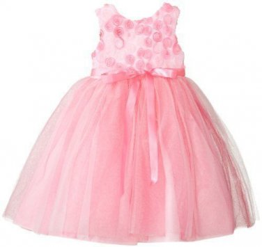 Marmellata Girls Size 4 Soutache Topped Pink Party Dress Wedding Easter Spring