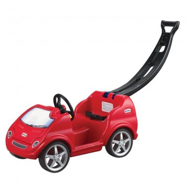 Toddlers Sturdy Ride-On Toy Car Kids Red Push Around Mobile with Handle 1-4 yrs