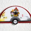 Fan Shaped Stainless Steel Unbreakable Cosmetic Mirror,Pocket Mirror, Purse Mirror, Handbag Mirror