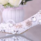 Evening Shoes, Party Shoes , Bridal Shoes-Princess Pearls with Crystal Rhinestone Flower Prom Shoes