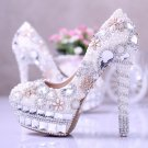 Party Shoes, Wedding Shoes,Party Shoes,Prom Shoes--Luxury Mixed Pearls with Shiny Crystal Rhinestone