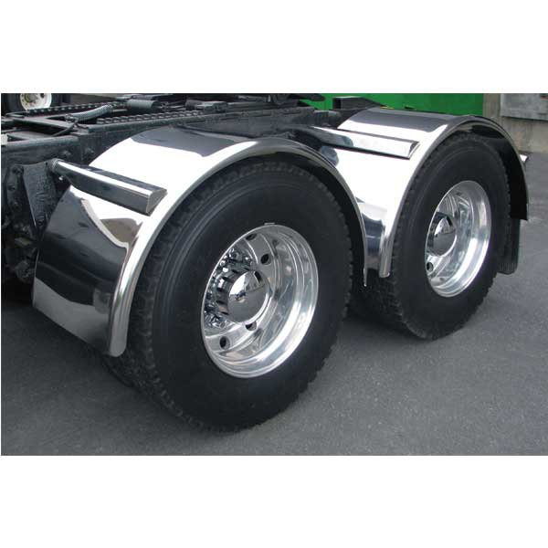 "80"" Smooth Stainless steel single axle fenders"