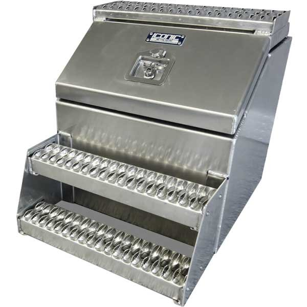 "24"" Big mouth aluminum step tool box"