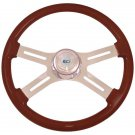 4 Spoke classic Mahogany 18 inch steering wheel