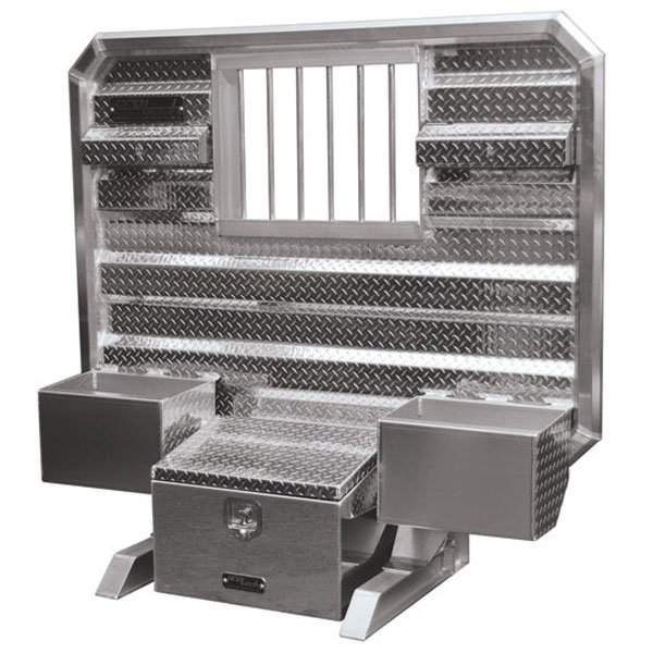 """65""""x70"""" Cab Rack w/Tool Box, Window & Chain Trays"""