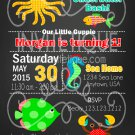 Under the Sea Party Birthday Invites - Printable - Under the sea - DIGITAL FILE - PRINTABLE