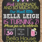 Pink Lemonade Birthday invitations | Printable |Birthday Invitations