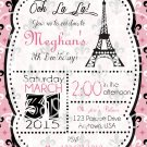 Parisian chic bridal shower invitation, elegant, eiffel tower, Baby Shower, Birthday Invite