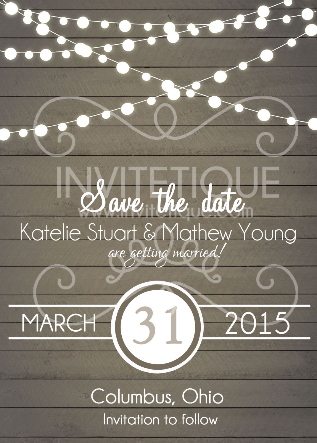 Rustic Save the Date Invitation, Save the Date, Wedding Card, wood, Digital File