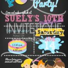 Girls Pool Party Birthday Bash Invitation, End of School Bash