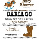 Western Baby Shower| Western Cowboy Baby Shower | Birthday | Cowboy Invitations