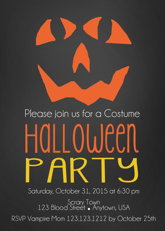 WICKED PUMPKIN HALLOWEEN INVITES|Halloween Invitations