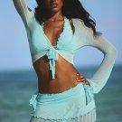 NEW Sexy 4 Piece Aqua Swimsuit - Size 4 - NWOT
