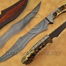 Handmade Damascus Steel Collectible Hunting Knife Stag Handle DHK885