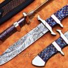Custom Handmade Damascus Steel Loveless Big Bear Sub-hilt Fighter Hunting Knife NB0960K