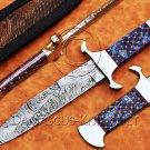 Custom Handmade Damascus Steel Loveless Big Bear Sub-hilt Fighter Hunting Knife NB0961K