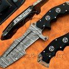 Handmade Damascus Steel Tracker Knife Survival Knife Camping Knife Damascus Tanto Knife NB0971K