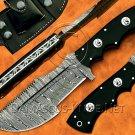 Handmade Damascus Steel Tracker Knife Survival Knife Camping Knife Damascus Steel Knife NB0972K