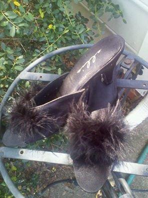 Sexy Black Boudoir Fur slippers