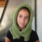 Hand knitted ladies scarf - hat - collar