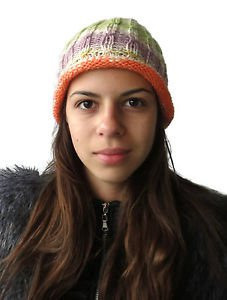 Hand knitted Ladies hat cloche from soft and gentle wool and acrylic yarn