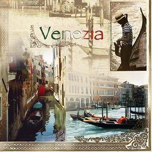 20 pcs Luxury Paper Napkins for Decoupage, Collage, Scrapbooking Venezia Theme