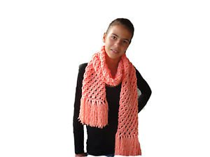 Soft, Hot, Long and impressive hand knitted woman's Winter scarf from Acrylic