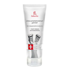 Antiperspirant Foot cream Expert Pharma for increased sweatiness from FABERLIC