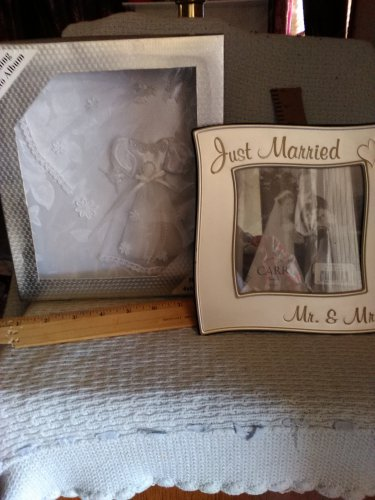 Just married picture frame and photo album
