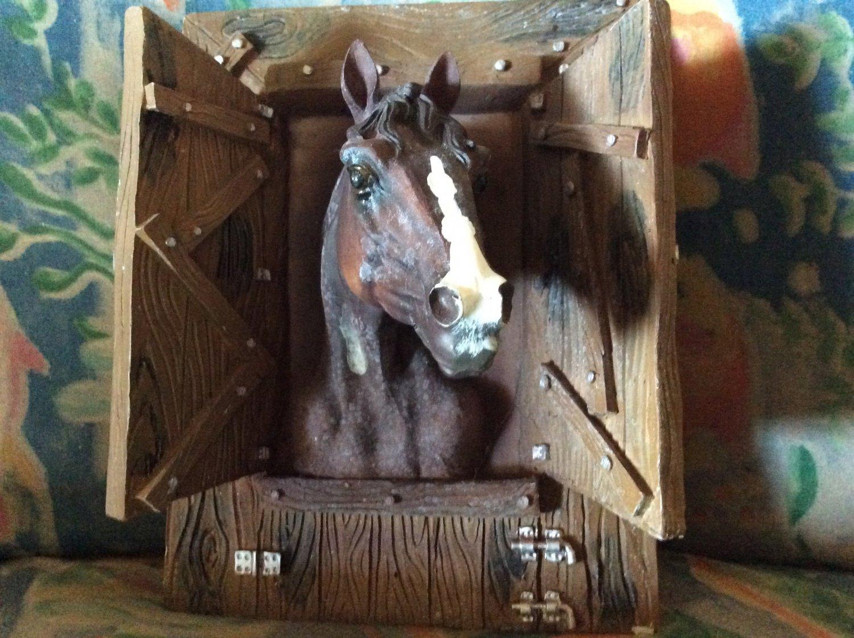 3D horse wall plaque