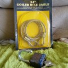 Bike lock and cable