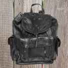 Ropin West Black Tooled Leather Backpack - RW784