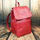 Ropin West Red Tooled Leather Small Backpack Purse - RW283
