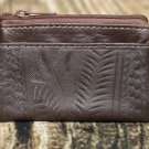 Ropin West Brown Tooled Leather Coin Purse - RW967
