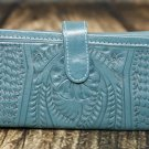 Ropin West Turquoise Tooled Leather Wallet - RW6206
