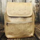 Ropin West Natural Tooled Leather Backpack Purse - RW382