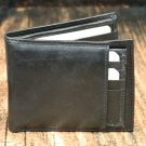 Men's Black Leather Wallet - Bifold PT21122