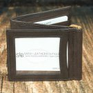 Men's Brown Leather Wallet - Bifold PT2107B