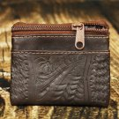 Ropin West Brown Tooled Leather Coin Purse - RW8967