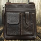 Tooled Leather Concealed Brown Handbag - RW8408