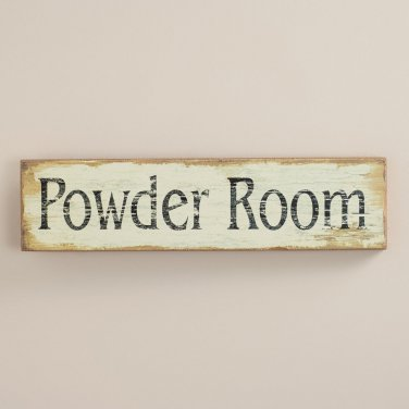 Powder Room Bathroom Sign toilet Restroom vintage Decor
