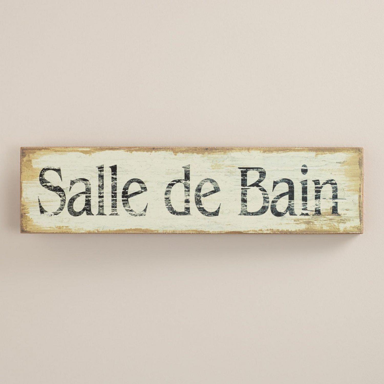 Salle de bain french paris european bathroom sign restroom for Salle de bain in french