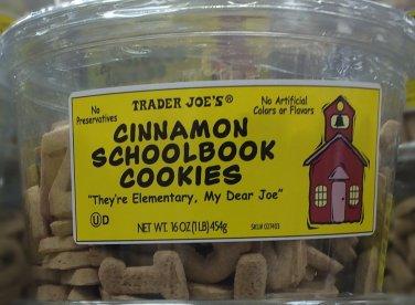 Cinnamon SchoolBook Cookies Trader Joe's
