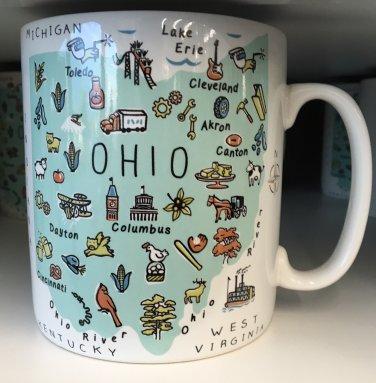 Jumbo Ohio Mug Coffee Tea 27 oz Mug