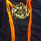 Cool 1 Of A Kind Amys Designs SCARF NECKLACE orange Camo Flower